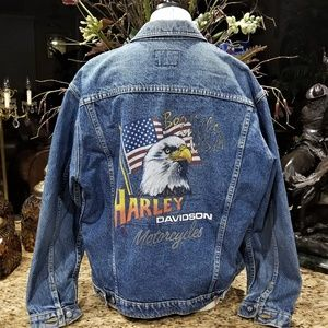 HARLEY DAVIDSON Born in The USA Eagle Flag Jacket